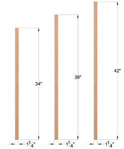 "LJ-5060: 1 1/4"" Square Baluster Dimensions"
