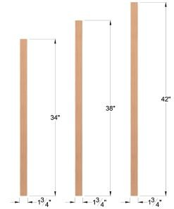 "LJ-5360: 1 3/4"" Square Baluster Dimensions"