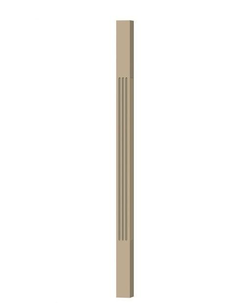 """LJF-5360: 1 3/4"""" Square Fluted Baluster (3D CAD Rendering)"""
