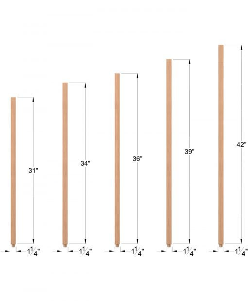 "S-5060: 1 1/4"" Square Baluster Dimensions"