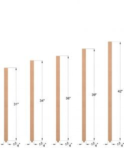 "S-5360: 1 3/4"" Square Baluster Dimensions"