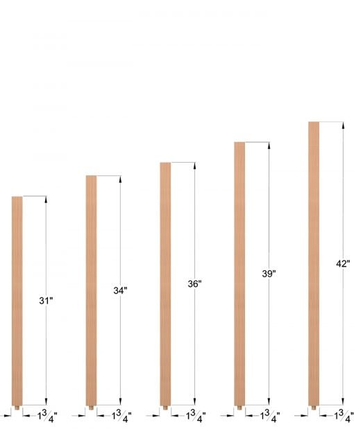 """S-5360: 1 3/4"""" Square Baluster Dimensions"""