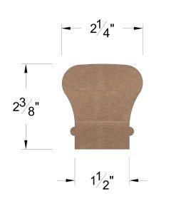 LJ-6010C: Clear Handrail Dimensions