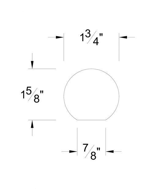 HF6040: Round Wall Rail Dimensions