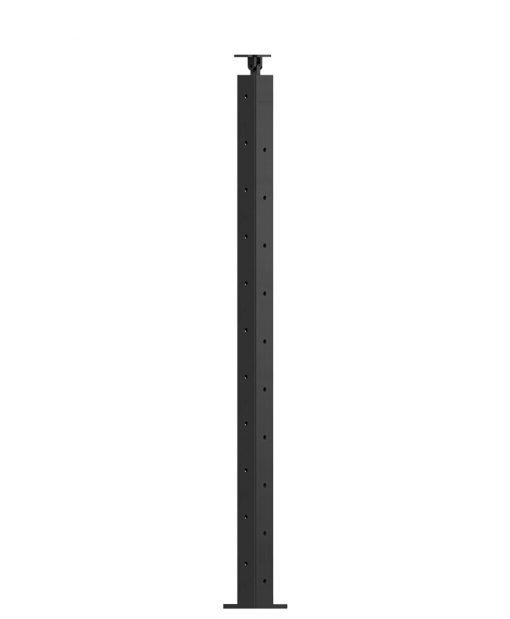 """CL-310D36L-39: 2"""" x 37 3/8"""" Level Down Left Transition 36"""" Rake to 39"""" Level Newel (10 & 11 Holes)"""