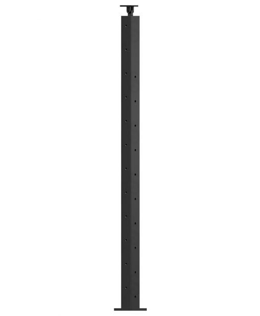 """CL-310D36L-42: 2"""" x 40 3/8"""" Level Down Left Transition 36"""" Rake to 42"""" Level Newel (10 & 12 Holes)"""