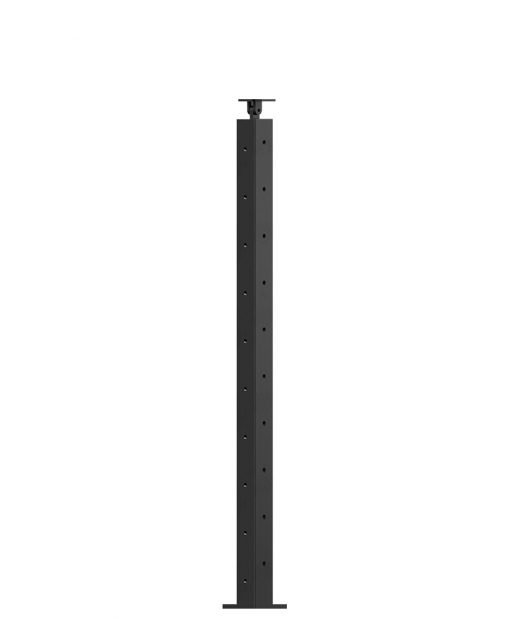 """CL-310DR-36: 2"""" x 34 3/8"""" Level Down Right Transition 36"""" Rake to 36"""" Level Newel (10 Holes)"""