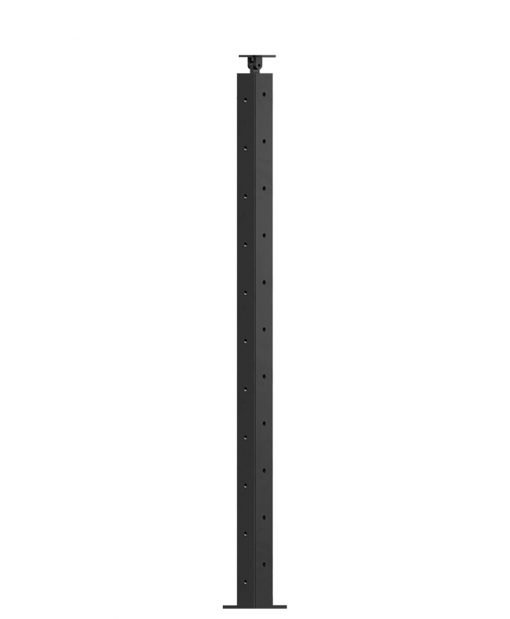 """CL-310DR-39: 2"""" x 37 3/8"""" Level Down Right Transition 36"""" Rake to 39"""" Level Newel (11 Holes)"""