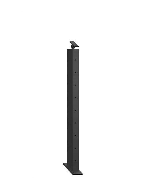 "CR-KW320-39: 2"" x 31 7/16"" Rake Pass Through Kneewall Newel (9 Holes)"