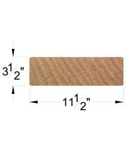 "BOXTRD: Face Laminated 3 1/2"" x 11 1/2"" Solid Wood Box Tread Dimensions"