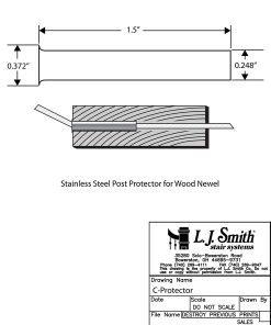 C-PROTECTOR: Post Protector Tube CAD Drawing