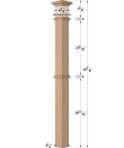 """LJ-4392: 4 1/4"""" Intermediate Box Newel Post Dimensions"""