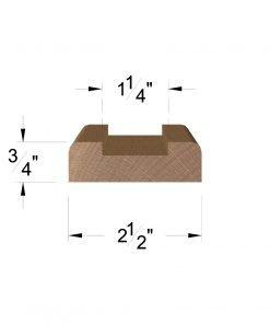 "LJ-6000S: 1 1/4"" Shoe Rail Dimensions"