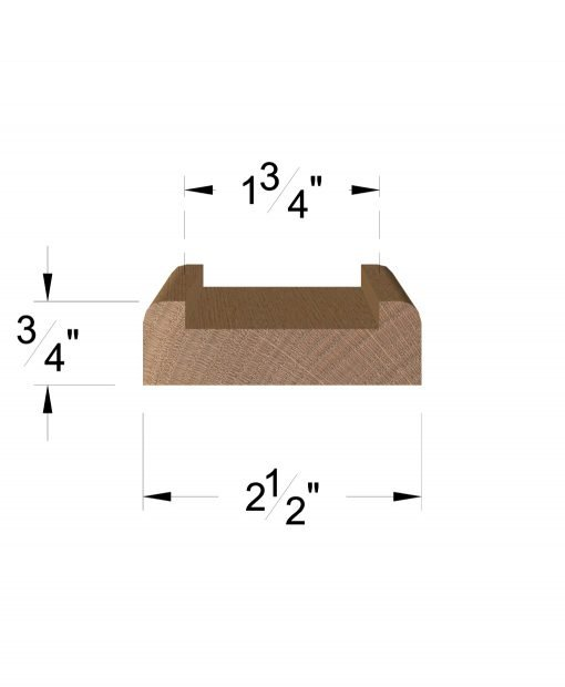 "LJ-6001S: 1 3/4"" Shoe Rail Dimensions"