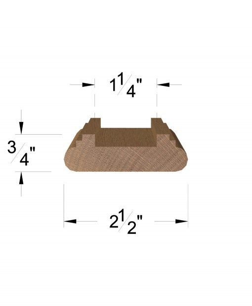 "LJ-6045: 1 1/4"" Shoe Rail Dimensions"