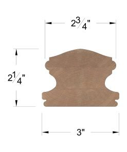 LJ-6400C: Clear Handrail Dimensions