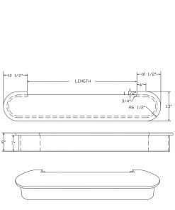 LJ-8015: Double Bullnose Starting Step  Cad Drawing