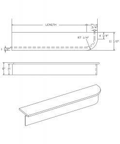 LJ-8040: Single-End Starting Step  Cad Drawing