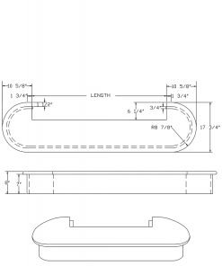 LJ-8050: Double Bullnose Starting Step  Cad Drawing