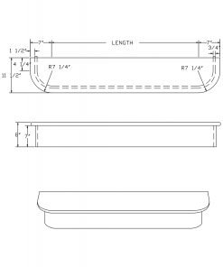 LJ-8060: Double-End Starting Step  Cad Drawing