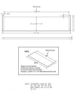 """LJ-807010XMR2: 10 1/2"""" Stair Tread with Mitered Returns On Both Ends - CAD Drawing"""