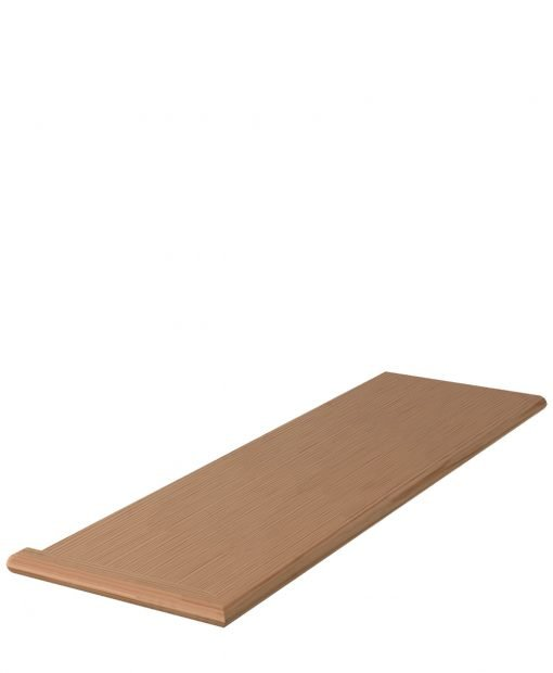 """LJ-807011XLH: 11 1/2"""" Stair Tread with Left Hand Mitered Returns"""