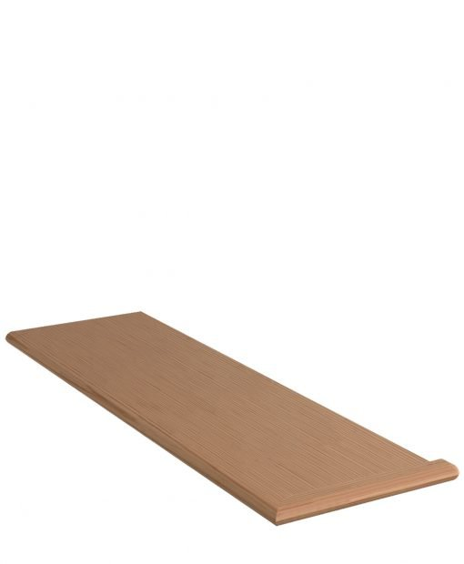 """LJ-807011XRH: 11 1/2"""" Stair Tread with Right Hand Mitered Returns"""
