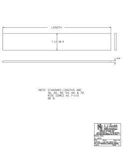 "LJ-80758X: 8"" Stair Riser CAD Drawing"