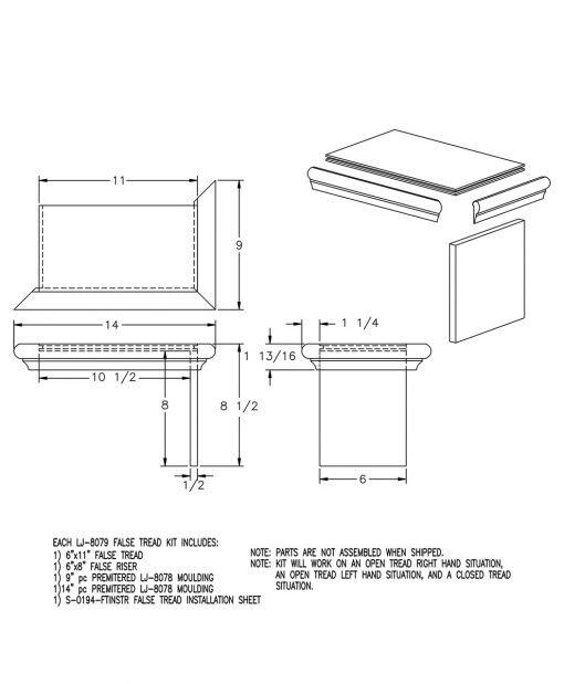 LJ-8079: False Tread Kit Drawing