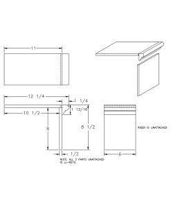LJ-8172: Closed False Tread Kit Drawing