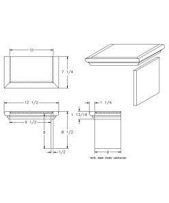 LJ-8179: Double Miter Return False Tread Kit Drawing