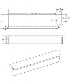 LJ-8440: Single-End Starting Step  Cad Drawing
