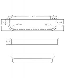LJ-8460: Double-End Starting Step  Cad Drawing