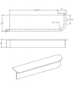 LJ-8640: Single-End Starting Step  Cad Drawing