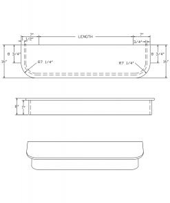 LJ-8660: Double-End Starting Step  Cad Drawing
