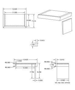LJ-8879: Double Miter Return False Tread Kit Drawing
