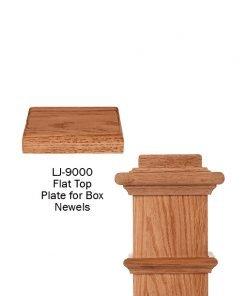 LJ-9000: Box Newel Post Flat Top Plate