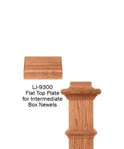 LJ-9300: Box Newel Post Flat Top Plate