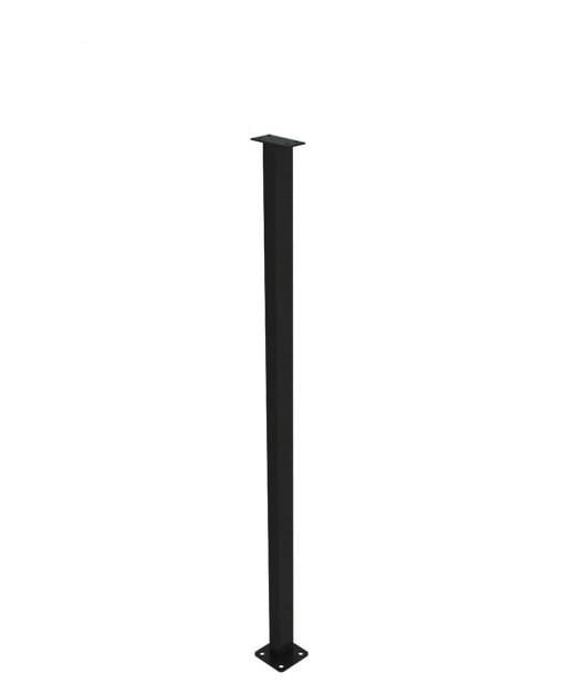 """PL-C43NWL4H: 43"""" Level Panel Spacer Newel for 39"""" Rail Height (Curb Wall - 39"""" Rail Height) - 4 Hole Base Plate"""
