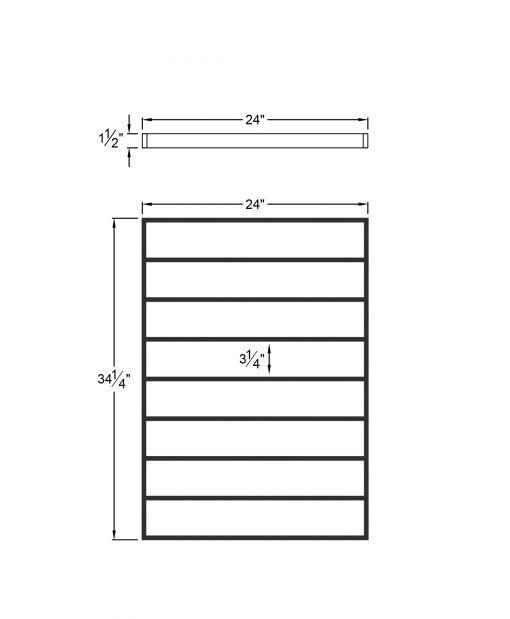 """PL-CE2439: 24"""" Level Panel for 39"""" Level Rail Height (Curb Wall or Elevated - 39"""" Level Rail Height) Dimensions"""