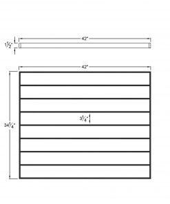 """PL-CE4239: 42."""" Level Panel for 39"""" Level Rail Height (Curb Wall or Elevated - 39"""" Level Rail Height) Dimensions"""