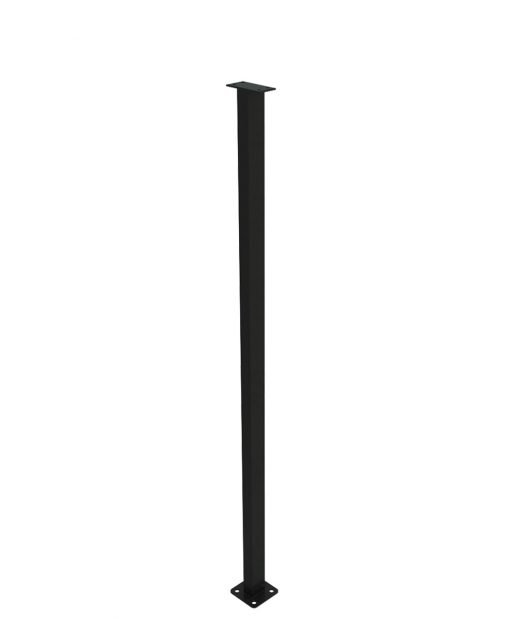 """PL-E43NWL4H: 41 1/4"""" Level Panel Spacer Newel for 36"""" Rail Height (Elevated - 36"""" Rail Height) - 4 Hole Base Plate"""