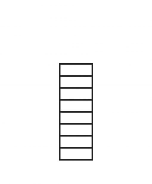 "PL-F1236: 12"" Level Panel for 36"" Level Rail Height (Flush Mount - 36"" Level Rail Height)"