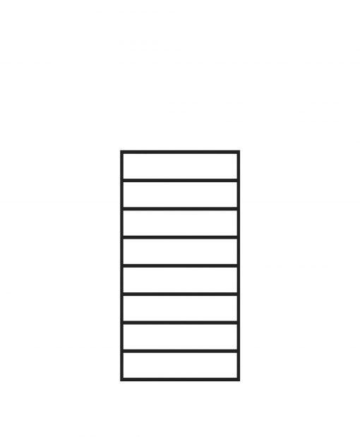 "PL-F1836: 18"" Level Panel for 36"" Level Rail Height (Flush Mount - 36"" Level Rail Height)"