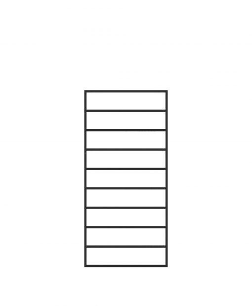 "PL-F1839: 18"" Level Panel for 39"" Level Rail Height (Flush Mount - 39"" Level Rail Height)"