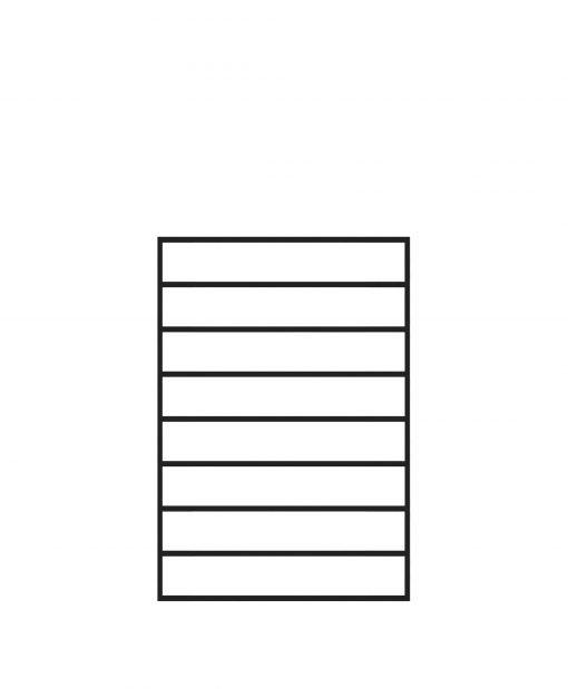 "PL-F2436: 24"" Level Panel for 36"" Level Rail Height (Flush Mount - 36"" Level Rail Height)"
