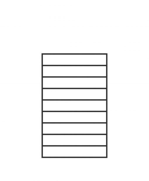 "PL-F2439: 24"" Level Panel for 39"" Level Rail Height (Flush Mount - 39"" Level Rail Height)"