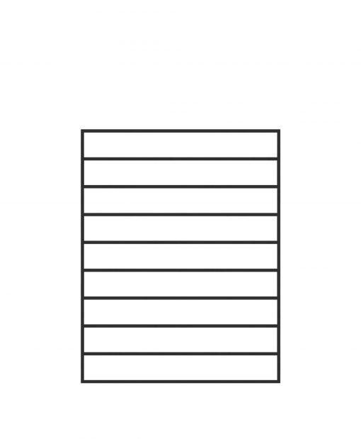 "PL-F3039: 30"" Level Panel for 39"" Level Rail Height (Flush Mount - 39"" Level Rail Height)"