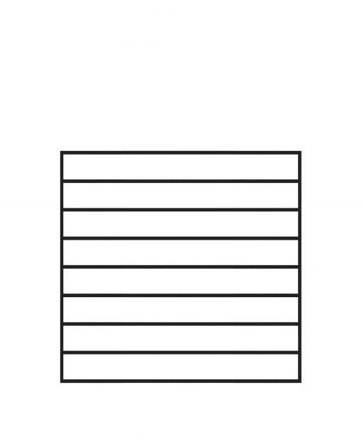 "PL-F3636: 36"" Level Panel for 36"" Level Rail Height (Flush Mount - 36"" Level Rail Height)"
