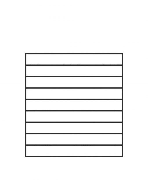 "PL-F3639: 36"" Level Panel for 39"" Level Rail Height (Flush Mount - 39"" Level Rail Height)"